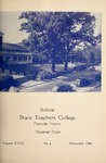 Bulletin State Teachers College   Volume XXXII issue 4, December 1946