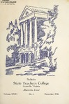 Bulletin State Teachers College   Volume XXXI issue 4, December 1945