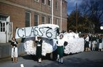 LU-257.096, 1958 Class of 1961 banner and float in procession