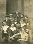 LU-083.1757 - Unknown man and women's basketball team. Circa early 1900s