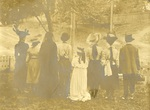 LU-083.1772 - Women in costume with their backs to the camera.