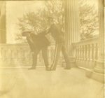 LU-083.1773 - Two women in costume on porch.