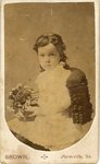 HS-022.001, Unidentified young girl holding basket of flowers