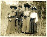 LU-157.0001 - Dr. Elmer E. Jones, Carlotta Lewis, Mary Glasgow, & Mary Preston at Appomattox Courthouse by John Chester Mattoon