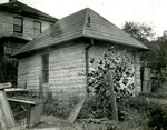 LU-157.0007 - Garage at Dan's house (2nd house) at Bloomington, Indiana by John Chester Mattoon