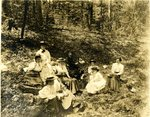 LU-157.0018 - John Chester Mattoon and students in woods by John Chester Mattoon