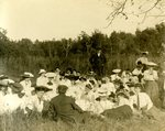 LU-157.0035 - Class picnic on Willis Mountain. B.M. Cox standing in back by John Chester Mattoon