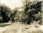 LU-157.0073 - Appomattox River, above Jackson's Dam, Farmville, VA by John Chester Mattoon