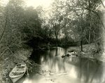 LU-157.0087 - Appomattox River, Dutchman's Curve. J.C. Matton's boat by John Chester Mattoon