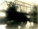 LU-157.0097 - Appomattox River, under narrow-gauge bridge from below by John Chester Mattoon