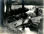 LU-157.0101 - Appomattox River, dam at Farmville, VA, mill in background by John Chester Mattoon