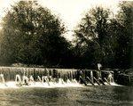LU-157.0105 - Appomattox River, Farmville Mill dam by John Chester Mattoon