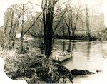 LU-157.0109 - Appomattox River from narrow-gauge bridge looking down by John Chester Mattoon