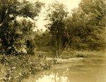 LU-157.0135 - John Chester Mattoon's boat on pond by John Chester Mattoon