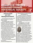 FPEHS, July 2021 Newsletter by Farmville-Prince Edward Historical Society