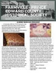 FPEHS, December 2020 Newsletter by Farmville-Prince Edward Historical Society