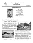 FPEHS, February 2009 Newsletter by Farmville-Prince Edward Historical Society