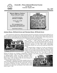 FPEHS, May 2009 Newsletter by Farmville-Prince Edward Historical Society