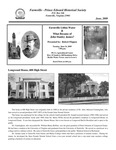 FPEHS, June 2009 Newsletter by Farmville-Prince Edward Historical Society