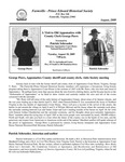 FPEHS, August 2009 Newsletter by Farmville-Prince Edward Historical Society
