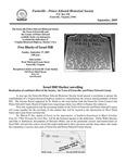 FPEHS, September 2009 Newsletter by Farmville-Prince Edward Historical Society