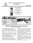 FPEHS, February 2010 Newsletter by Farmville-Prince Edward Historical Society