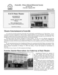 FPEHS, March 2010 Newsletter by Farmville-Prince Edward Historical Society