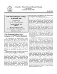 FPEHS, April 2010 Newsletter by Farmville-Prince Edward Historical Society