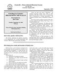 FPEHS, September 2010 Newsletter by Farmville-Prince Edward Historical Society