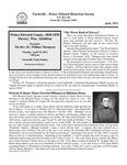 FPEHS, April 2011 Newsletter by Farmville-Prince Edward Historical Society
