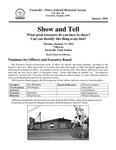 FPEHS, January 2012 Newsletter by Farmville-Prince Edward Historical Society