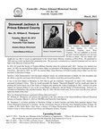 FPEHS, March 2012 Newsletter by Farmville-Prince Edward Historical Society