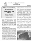 FPEHS, June 2012 Newsletter by Farmville-Prince Edward Historical Society