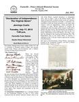 FPEHS, July 2012 Newsletter by Farmville-Prince Edward Historical Society