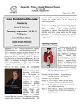 FPEHS, September 2012 Newsletter by Farmville-Prince Edward Historical Society