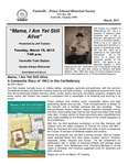 FPEHS, March 2013 Newsletter by Farmville-Prince Edward Historical Society