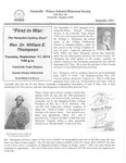 FPEHS, September 2013 Newsletter by Farmville-Prince Edward Historical Society