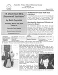 FPEHS, March 2014 Newsletter by Farmville-Prince Edward Historical Society
