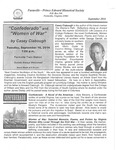 FPEHS, September 2014 Newsletter by Farmville-Prince Edward Historical Society
