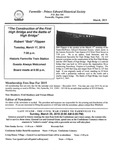 FPEHS, March 2015 Newsletter by Farmville-Prince Edward Historical Society