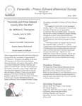 FPEHS, June 2015 Newsletter by Farmville-Prince Edward Historical Society