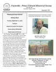 FPEHS, September 2015 Newsletter by Farmville-Prince Edward Historical Society