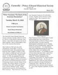 FPEHS, March 2016 Newsletter by Farmville-Prince Edward Historical Society