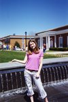 In the Chi Fountain by Longwood University