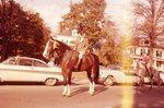 LU-120.157 - Circus Parade, 1958, Nancy Jane Striplin on horseback.