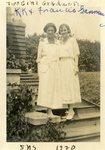 "LU-182.010, ""Two Girl Graduates, K.K. & Francis Gannaway. SNS 1920."""