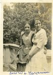 """LU-182.022, """"Lois W. & Bargamin."""" Likely Lois Williams and Grace Bargamin, class of 1921"""