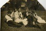 LU-182.024, seven unidentified women sitting on lawn