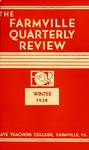 The Farmville Quarterly Review, Volume ll Number 2, Winter 1938